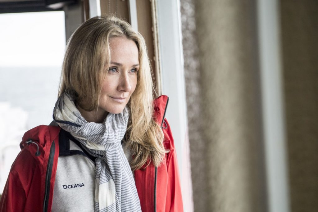 Alexandra Cousteau, Senior Oceana Advisor, onboard Martha L. Black during the Gulf of St. Lawrence Expedition, a joint venture between  Oceana Canada and Fisheries and Oceans Canada.