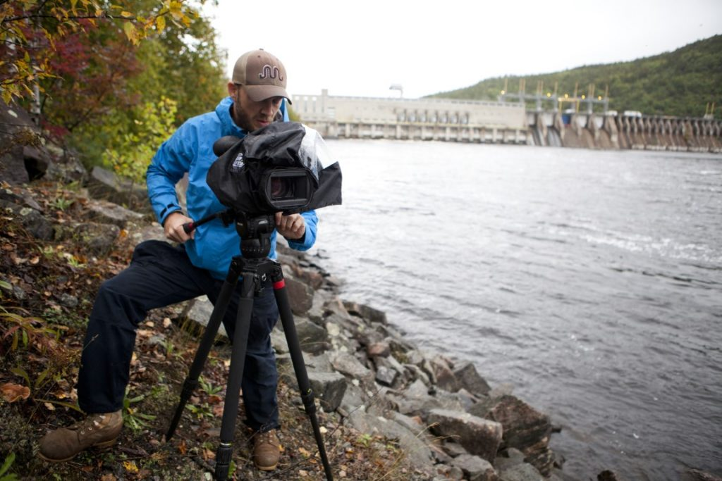 Parker Brown shooting near the Otto Holden Station in Mattawa, Ontario.